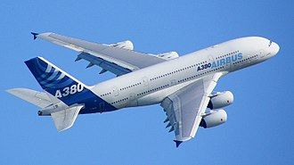 airbus A380 blue sky