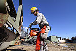 Aircraft recovery team trains with reclamation equipment 141108-Z-NI803-004.jpg