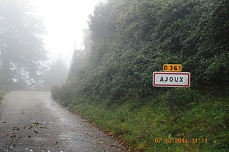 Ajoux - The entry to Ajoux