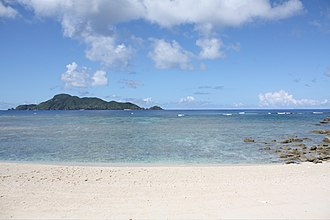 Aka Island - Typical sea view from Akajima island and surrounding coral reefs