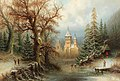 Albert Bredow - Romantic Winter Landscape with Ice Skaters by a Castle.jpg