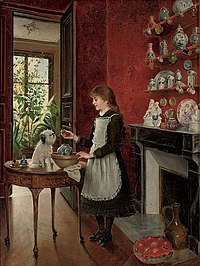 Albert Roosenboom Young girl with her dog.jpg