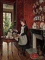 Albert Roosenboom Young girl with her dog.jpg