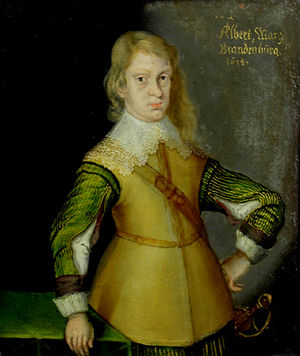Albert II, Margrave of Brandenburg-Ansbach - Albert in a miniature of 1634