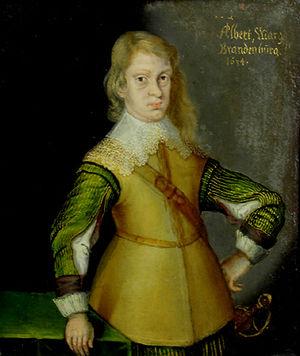 Albert II, Margrave of Brandenburg-Ansbach - Albert in a miniature of 1634