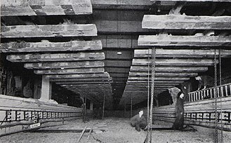Aldgate East tube station - A second view of reconstruction under the tracks, showing them ready to be lowered down to their new level.