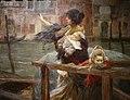 Alessandro milesi, la traversata (la partenza del marinaio), 1901, 02.JPG