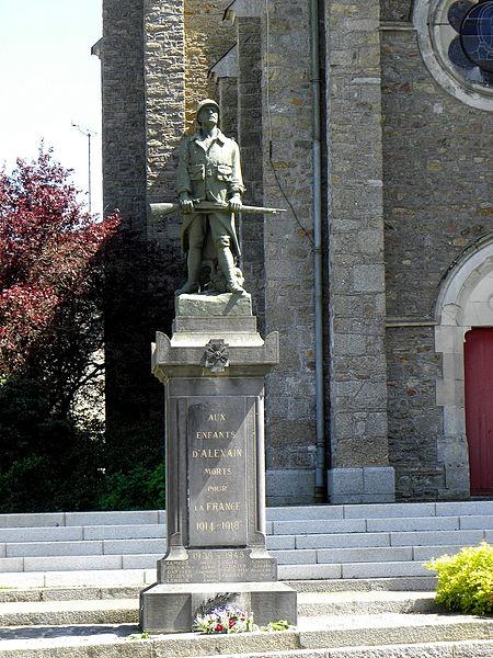 Monument aux morts d'Alexain (53).