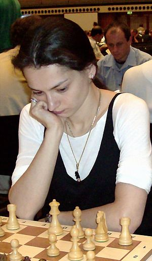 English: Alexandra Kosteniuk at the Chess Clas...