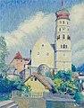 Alfons Luger - Blick auf die Laurentiuskirche in Bludenz.jpg