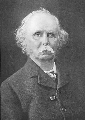 English: British economist Alfred Marshall (18...