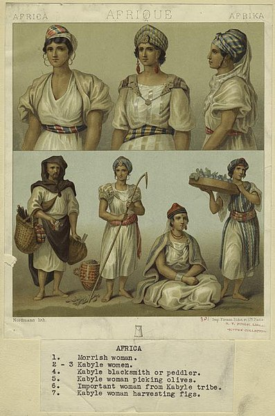 File:Algerian men and women in traditional dress 2 (1876 ...