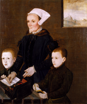Alice Barnham and Her Sons Martin and Steven 1557.png