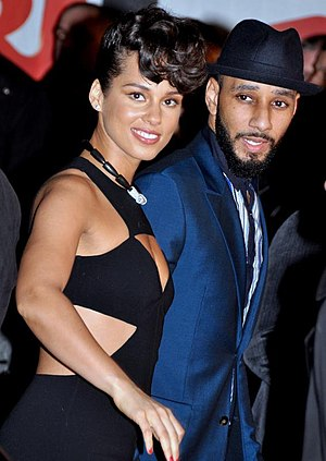 Swizz Beatz - Swizz Beatz with wife Alicia Keys, in Cannes, France, at the NRJ Music Awards ceremony, January 2013