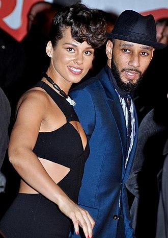Swizz Beatz - Swizz Beatz with wife Alicia Keys, in Cannes, France, at the NRJ Music Awards ceremony, January 2013