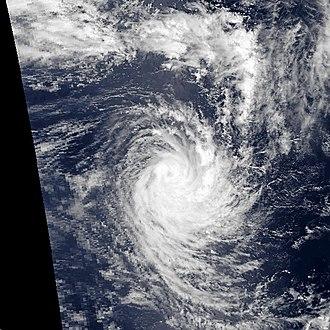 1990–91 South-West Indian Ocean cyclone season - Image: Alison jan 15 1991 0840Z