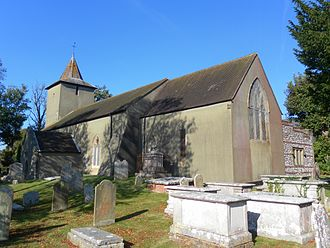 All Saints Church, Patcham - The church from the southeast