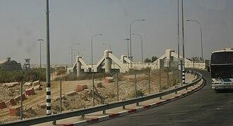 Allenby Bridge - Allenby Bridge from the Jordanian side