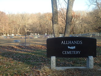 Kickapoo State Recreation Area - Allhands Cemetery, located in the southeast corner of Kickapoo State Park, is the final resting place for many early European settlers from the early 20th century.