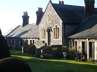 Harbledown - Image: Almshouses at St. Nicholas' Hospital, south of Church Hill geograph.org.uk 1075917