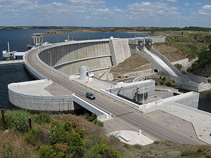 Guadiana - The Alqueva Dam, located in the southern arm of the Guadiana, is responsible for Western Europe's largest reservoir.
