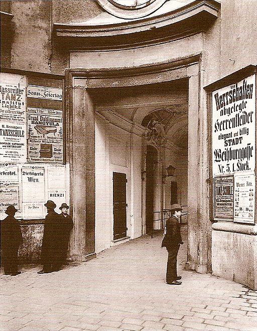 Altes Burgtheater Eingang 1880