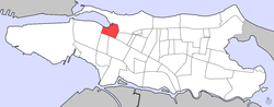 Location of Alto del Cabro within the District of Santurce
