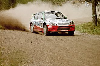 Hyundai Motorsport - Alister McRae driving an Accent WRC at the 2001 Rally Finland.