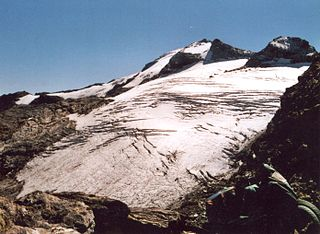 Piz Fora mountain shared by Switzerland and Italy