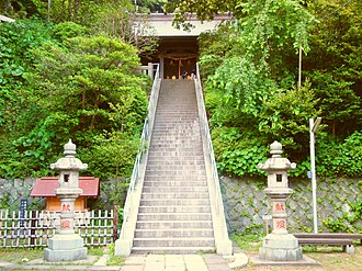 Amanawa Shinmei Shrine - Stone stairs of Amanawa Shinmei Shrine