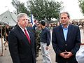 Ambassador Tefft and Deputy Minister of Defense David Sikharulidze at the ceremony (September 10, 2005).jpg