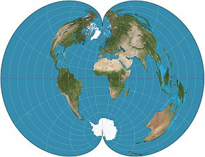 Polyconic projection - American polyconic projection of the world