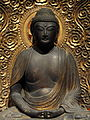 Amida Buddha, view 2, Japan, 17th century AD, wood with gilding - San Diego Museum of Art - DSC06506.JPG