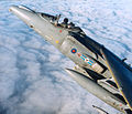 An RAF Harrier GR7 of 20 Squadron, based at RAF Wittering, is pictured flying above the clouds. MOD 45132101.jpg
