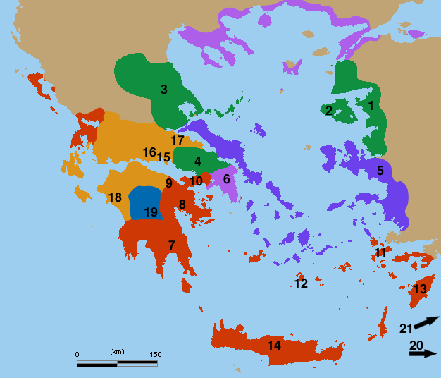 Ancient greek dialects(numbered)