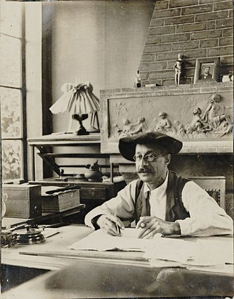 André Gedalge - André Gedalge at his home in Chessy, about 1908, Bibliothèque nationale de France.