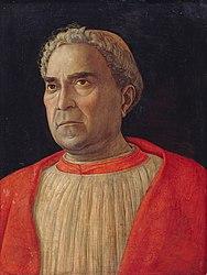 Andrea Mantegna: Ritratto del cardinale Ludovico Trevisan