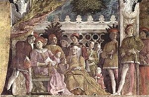 """Camera degli Sposi - The """"Court Scene""""."""