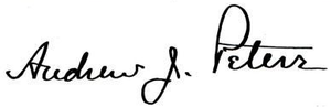 Andrew James Peters - Image: Andrew James Peters 42nd Mayor of Boston Signature