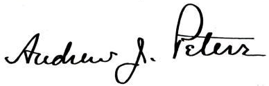 Andrew James Peters's signature
