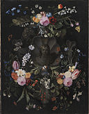 Andries Bosman - Cartouche with the Christ Child surrounded by a flower garland.jpg