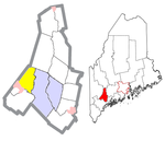 Androscoggin County Maine Incorporated Areas Minot Highlighted.png