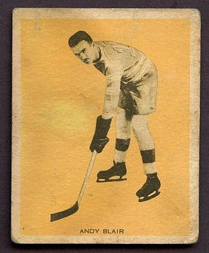 Andy Blair (ice hockey) - 1933 hockey card of Andy Blair