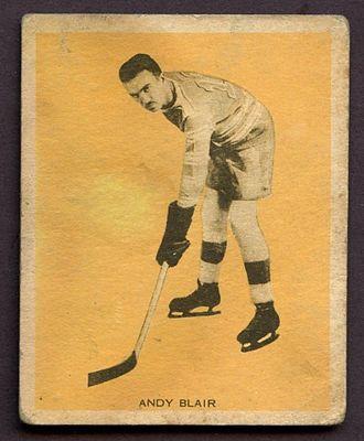 Andy Blair (ice hockey) - 1933 hockey card of Andy Blair