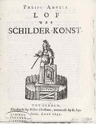 Philips Angel II - Title page of Lof der Schilder-Konst