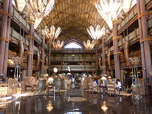 Disney's Animal Kingdom Lodge - Lobby of Jambo House