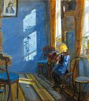 Anna Ancher - Sunlight in the blue room - Google Art Project.jpg