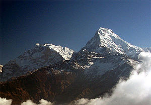 Annapurna I and South (left)