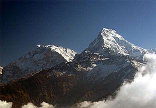 Annapurna I (sinistra) e Sud (destra) visti dal Poon Hill