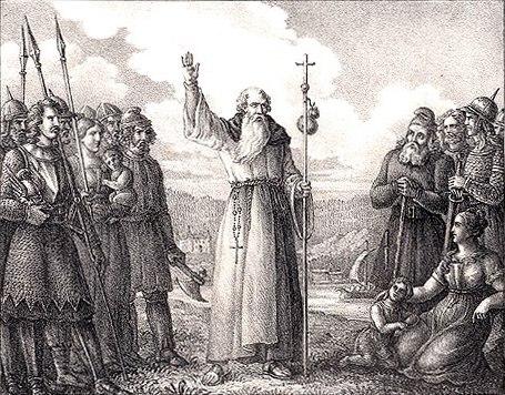 Ansgarius predikar Christna läran i Sverige by Hugo Hamilton